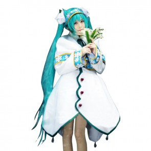 Vocaloid Cosplay Snow Miku 2015 Costume Dress