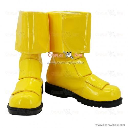 Juken Sentai Gekiranger Cosplay Shoes Ran Uzaki GekiYellow Boots