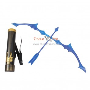 League of Legends Ashe Bow Arrow and Arrow Holder Cosplay Props