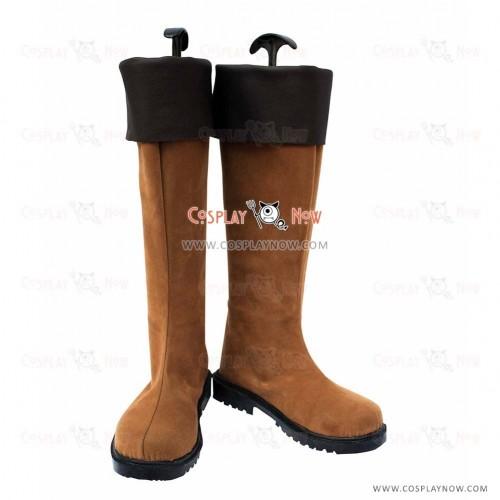 Hakuouki Cosplay Shoes Heisuke Toudou Leather Boots