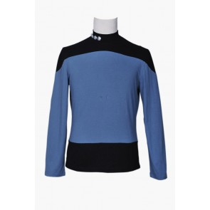 Star Trek Costume Picard Gray Black Blue Shirt
