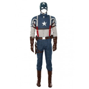 Steve Rogers Costume For Captain America 1 Cosplay Uniform New