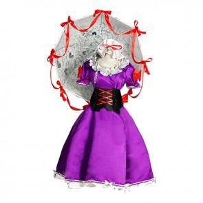 Touhou Project Cosplay Yukari Yakumo Dress Costume
