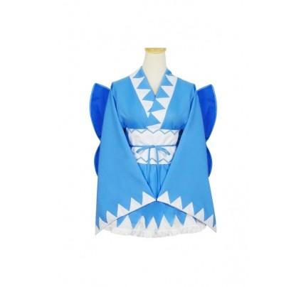 Touhou Project Cosplay Cirno Kimono Dress Costume
