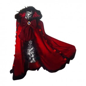 K Cosplay Anna Kushina Costume Dress Cape