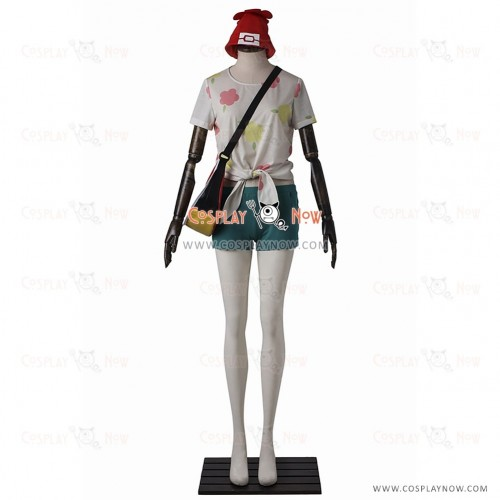Female Protagonist Costume Cosplay Pokemon Sun and Moon