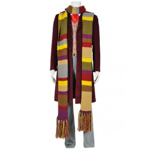 Doctor Who Tom Baker 4th Dr Cosplay Costume