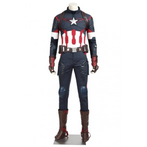 Avengers Age Of Ultron Cosplay Captain America Steve Rogers Costume