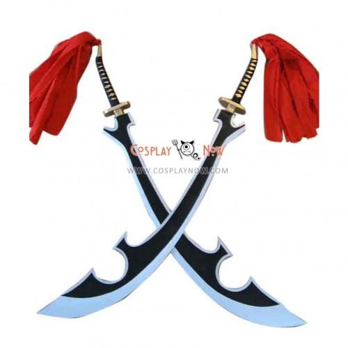 Bleach katenkyoukotsu Double Swords Cosplay Props