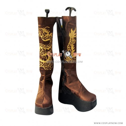 Dynasty Warriors Cosplay Shoes Jiang Wei Boots