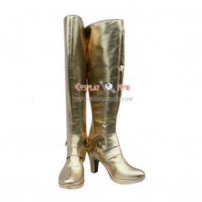 Fate/stay Night Cosplay Shoes Saber Gold Boots
