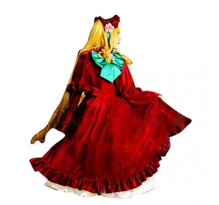 Rozen Maiden Shinku Cosplay Costume Red Dress