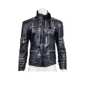 Beat It Michael Jackson Cosplay Costume Leather Jacket