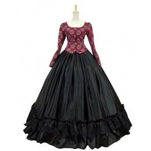 Civil War Victorian Corduroy Gown Reenactment Stage Lolita Dress Costume