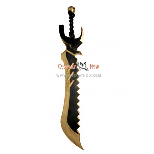 Black Rock Shooter BLACK Gold Saw Cosplay Prop