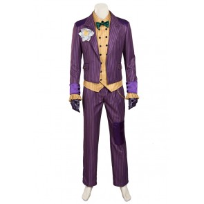 Batman Arkham Knight The Joker Cosplay Costume Purple