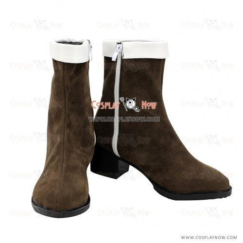 Danganronpa V3: Killing Harmony Maki Harukawa Brown Shoes Cosplay Boots