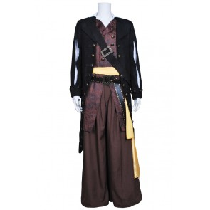 Pirates Of The Caribbean Barbossa Cosplay Costume Coat