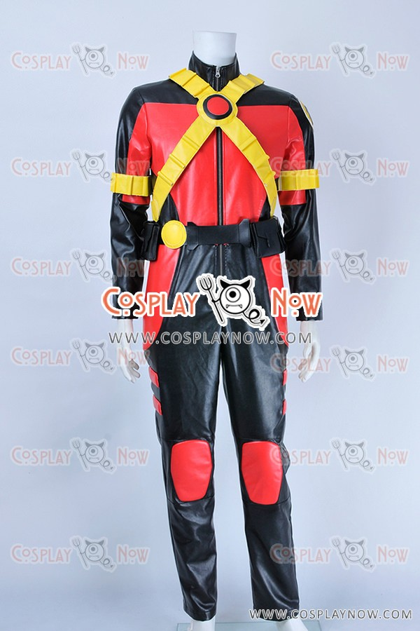 Young Justice Red Robin Tim Drake Cosplay Costume