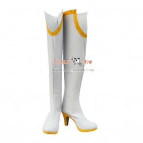 Tiger & Bunny Cosplay Shoes Karina Lyle/Blue Rose White Boots