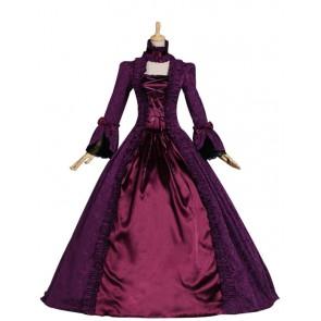 Victorian Gothic Brocade Ball Gown Reenactment Stage Lolita Dress Costume