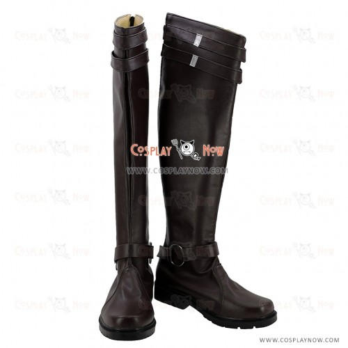 Fate Grand Order Cosplay Shoes Saber Bedivere Brown Boots