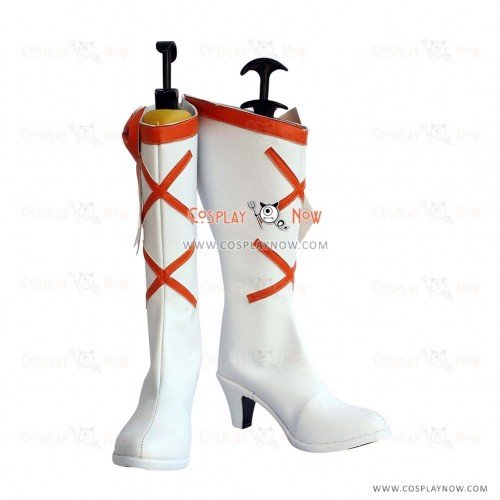 Pretty Cure Cosplay Shoes Heart Catch Cure Sunshine White Boots