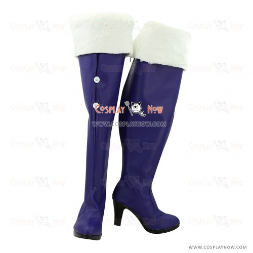 Vocaloid Snow Miku Cosplay Boots for Girls