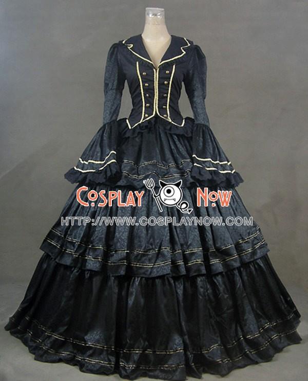 Civil War Victorian Brocade Ball Gown Reenactment Theater Lolita ...