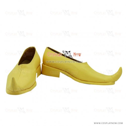 Magi Kouen Ren Yellow Cosplay Shoes