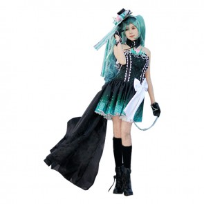 Vocaloid Cosplay Hatsune Miku Costume Dress Dark