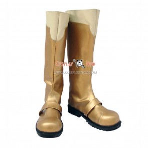 Gold Macross Frontie Cosplay Shoes Ranka Lee Boots