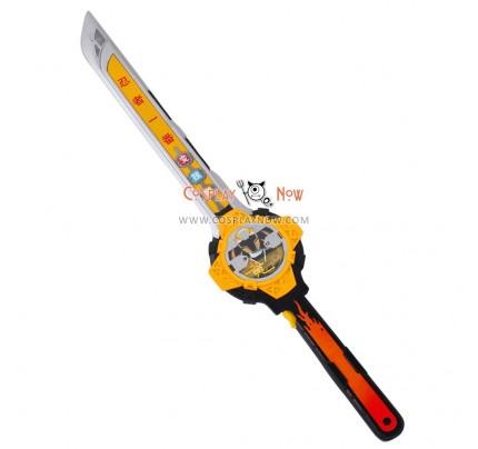Power Rangers Shuriken Sentai Ninninger Yellow Ninja PVC Cosplay Props