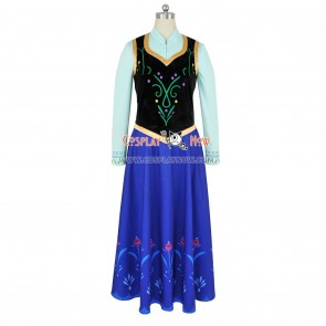 Frozen The Snow Queen Princess Anna Cosplay Costume