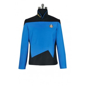 Star Trek The Next Generation TNG Sciences Uniform Cosplay Costume
