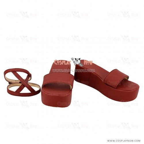 Fairy Tail Wendy Marvell Red Cosplay Shoes