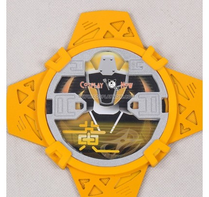 Power Rangers Shuriken Sentai Ninninger Yellow Ninja Shuriken Cosplay