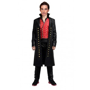 Captain Hook Killian Jones Costume For Once Upon A Time Cosplay
