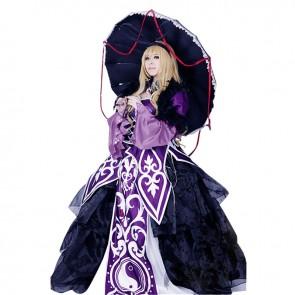 Touhou Project Cosplay Yukari Yakumo Costume Purple Dress