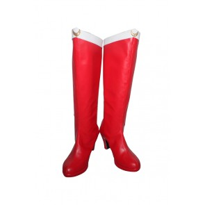 Sailor Moon Cosplay Shoes Venus Minako Aino Boots Red