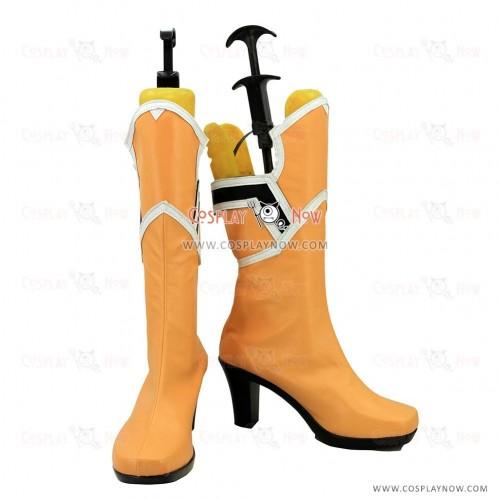 Sword Art Online Cosplay Shoes Yuuki Asuna Yuki Asuna Orange Boots
