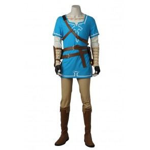 The Legend of Zelda Breath of the Wild Cosplay Link Costume