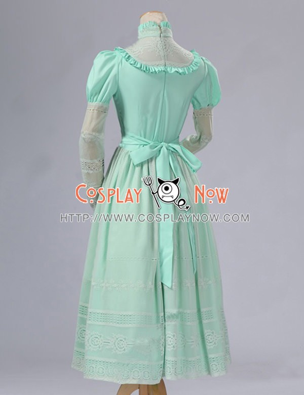 Lolita Cosplay Victorian Edwardian Ball Gown Reenactment Stage Green ...