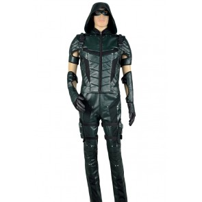 Arrow Season 4 Green Arrow Oliver Queen Cosplay Costume