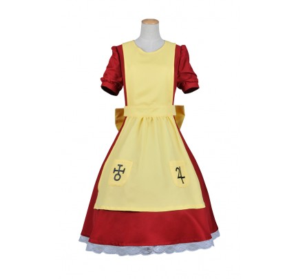 Alice Madness Returns Cosplay Alice Costume Red Yellow Dress
