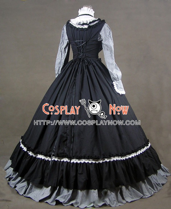 Victorian Gothic Lolita Steampunk Dress Ball Gown Cosplay Costume