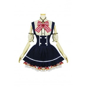 Love Live Cosplay Rin Hoshizora Maid Dress Costume