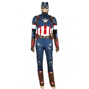 Avengers Age Of Ultron Steve Rogers Cosplay Costume Uniform
