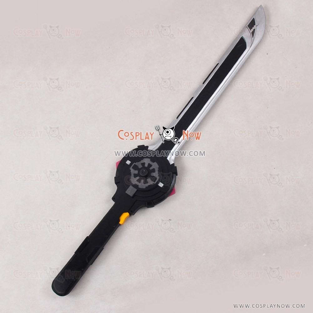 """1025 34/"""" Shuriken Sentai Ninninger Red Ninja PVC Cosplay Prop"""