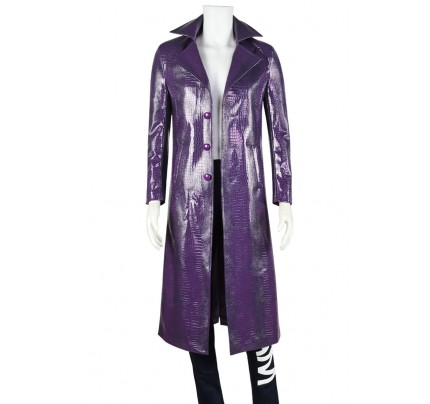 Suicide Squad Batman The Joker Cosplay Costume Purple Outfit